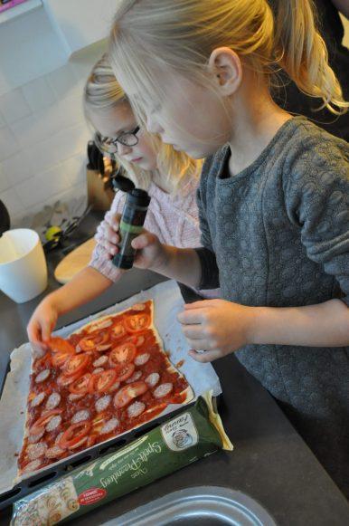 pizza maken tante Fanny