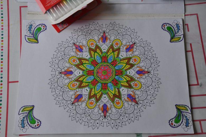 vakantiekoffertje mandala kleurboek