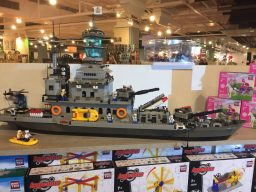 bouwblokjes oorlogsschip