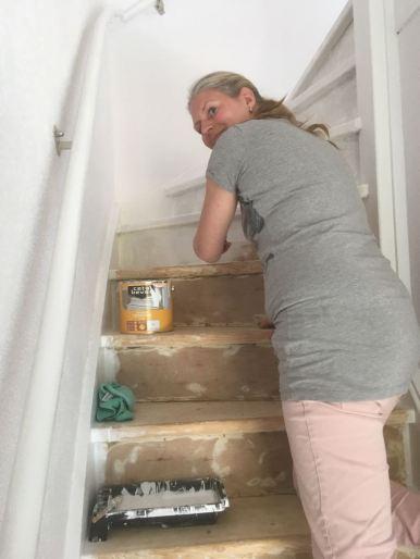 cetabever op de trap
