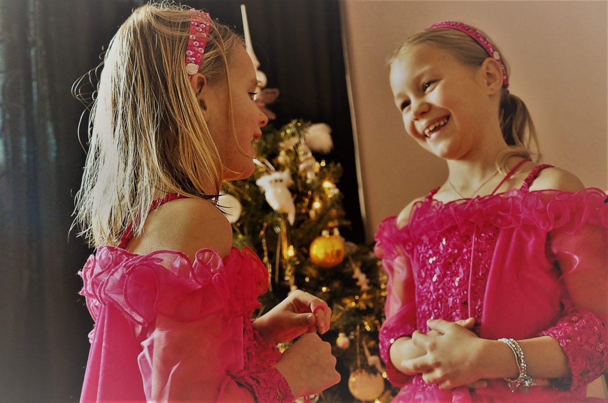 Prinsesjes op de kerstkaart
