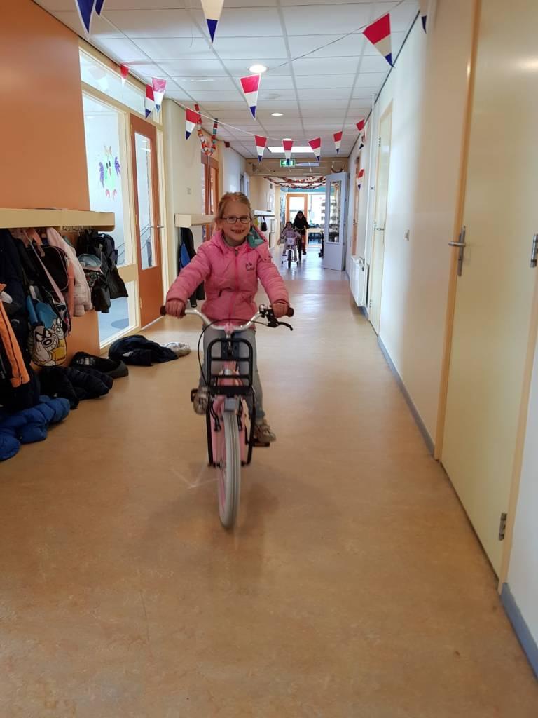 fietsen in school