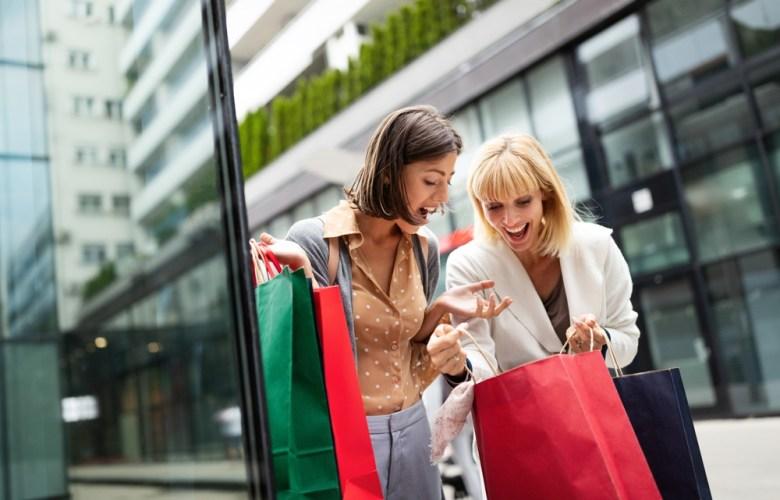shoppende dames