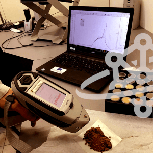 Fast assessment of mineral content on Martian-like soil with portable XRF device