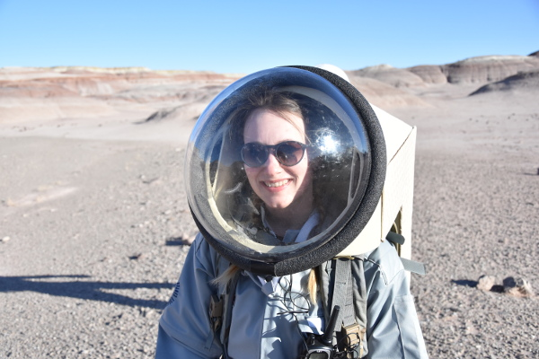 Our crew physicist Sophie Wuyckens was really impressed by her first EVA on Mars planet !