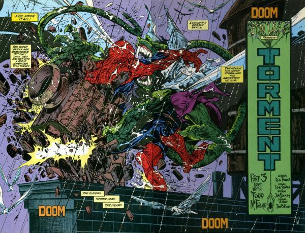Comic Todd McFarlane Spider-Man Lizards