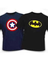 Captain America + Batman T-Shirts For Men