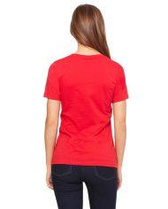 Red Cotton Plain T-Shirt for Women2