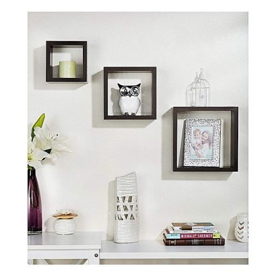square shaped wall shelf i