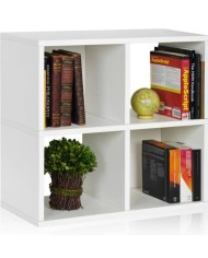 4-Cubby Bookcase Storage Shelf