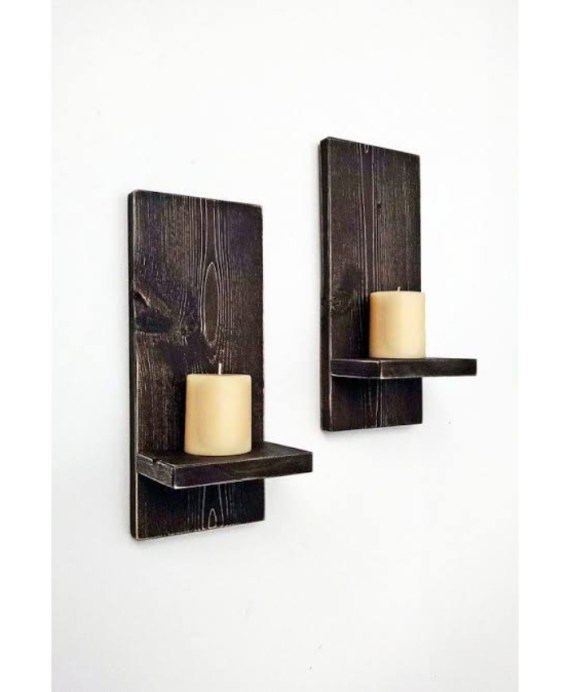Wooden Wall Sconces m