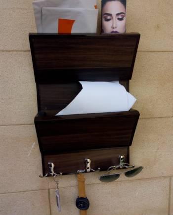 keychain rack in wood