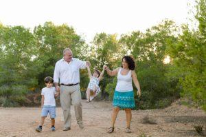 Marta Ahijado, fotografía de familias al aire libre en Murcia