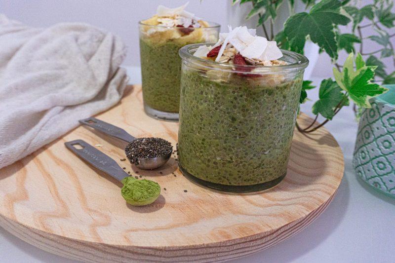 pudding de chia y matcha Marta Atram