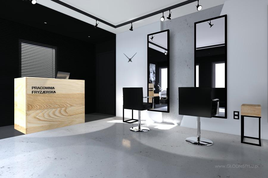 Salon fryzjerski CH14  godniSTYLU WNTRZA i ARCHITEKTURA
