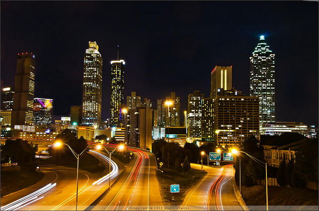 Downtown Atlanta at Night  MARTA Guide