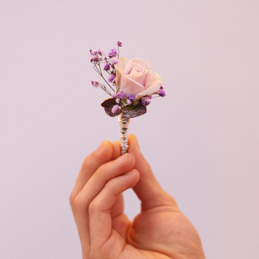 Diadema corona polsera tocado solapa -floral-MartaMajo-Flors