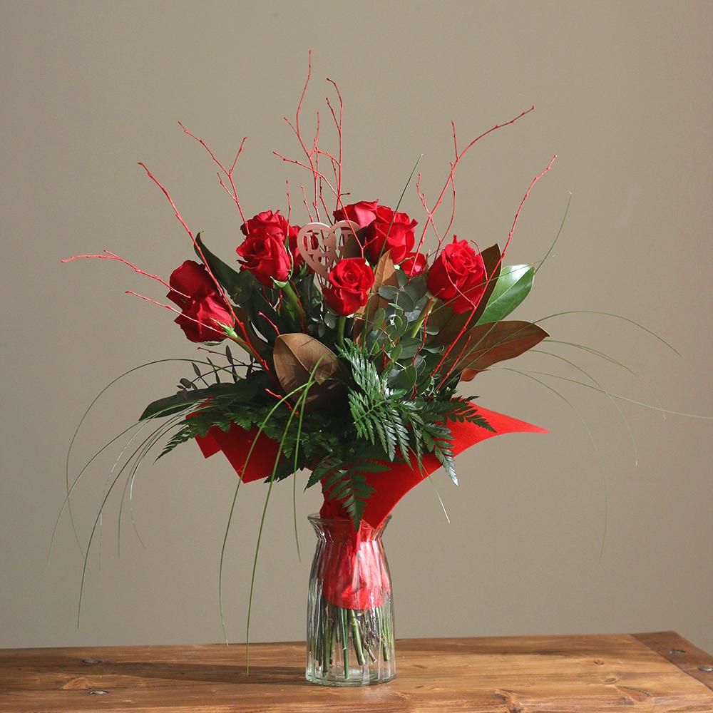 san valentin amor ramo flores floristeria blanco martamajo flors lilium rosas sant feliu de llobregat barcelona rosa