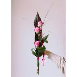 Bouquet vertical Rosa triple