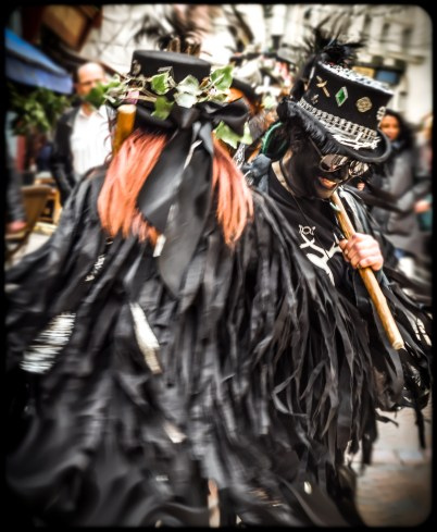2016 Jack in the Green Black Morris Dancers Action Spin small