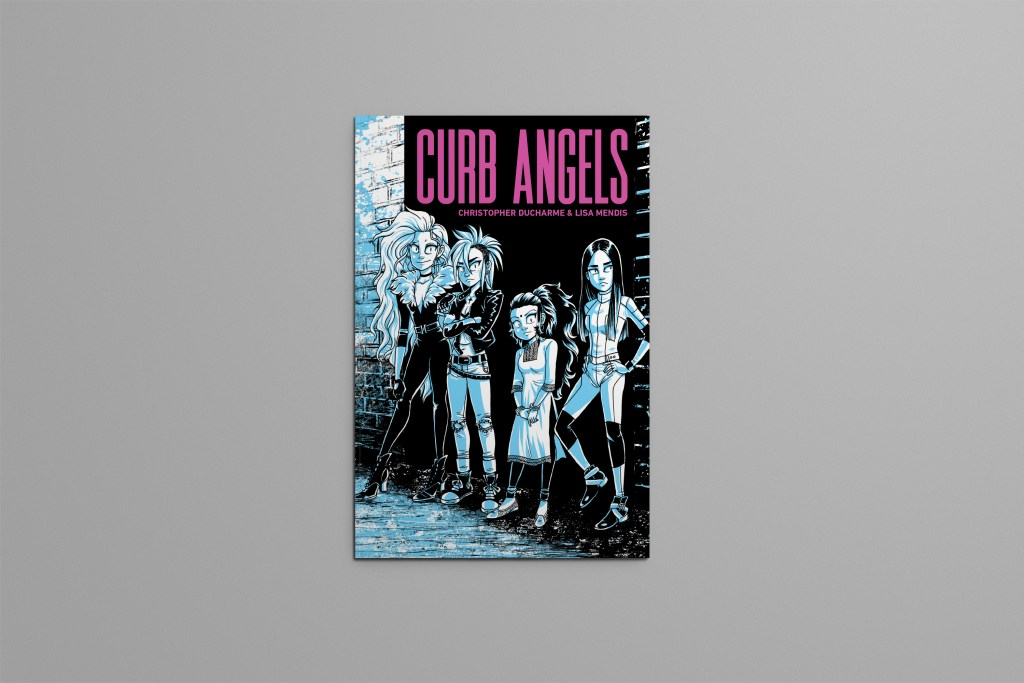 Front cover of Curb Angels graphic novel.