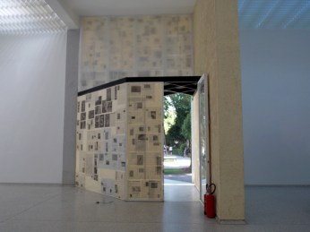 Window with Fake Newspapers, Mark Manders, 2005-2013