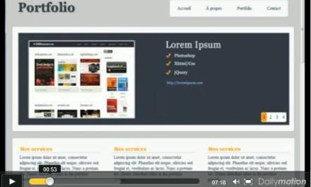 Portfolio réalisé avec HTML5 – CSS3 et JQuery