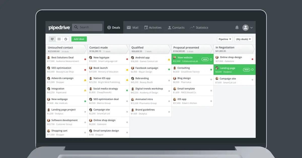 Pipedrive: outils CRM numéro 1