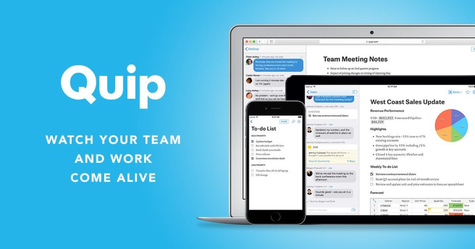 Salesforce's Quip Acquires Designer Studio Unity&Variety; Plans to Build Next-Gen Productivity Tools