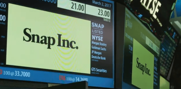 Snap Inc. trading on NYSE