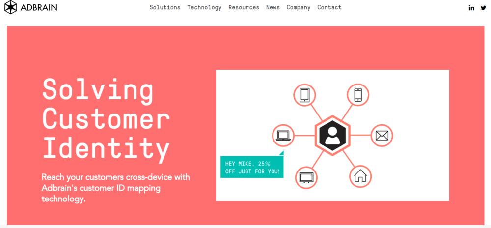 Solves customer identity, cross-device, Adbrain, Digital Addix, ID mapping, personalized targetting,