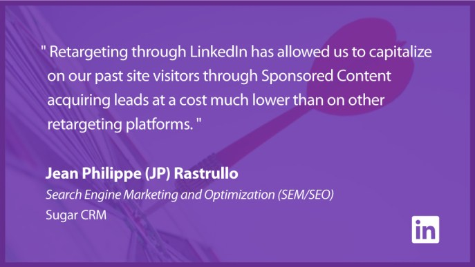 Jean-Philippe-(JP)-Rastrullo on LinkedIn Matched Audiences