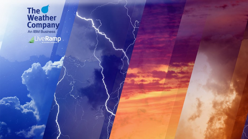 The Weather Company and LiveRamp Partner to Allow Marketers to Leverage Weather Data