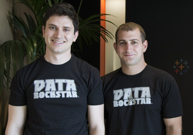 ClearGraph founders Ryan Atallah and Andrew Vigneault at Tableau's Palo Alto office