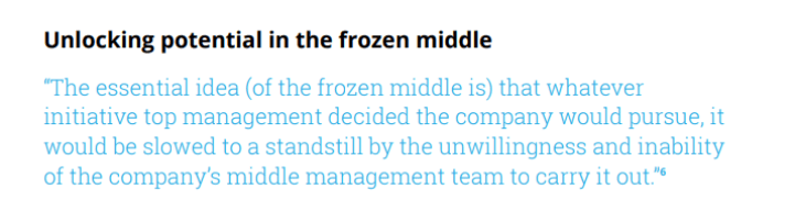 Unlocking potential in the frozen middle