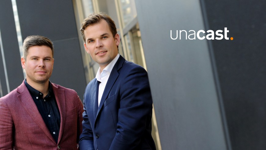 LEFT: Kjartan Slette, COO & Co-founder; RIGHT: Thomas Walle, CEO & Co-founder, Unacast