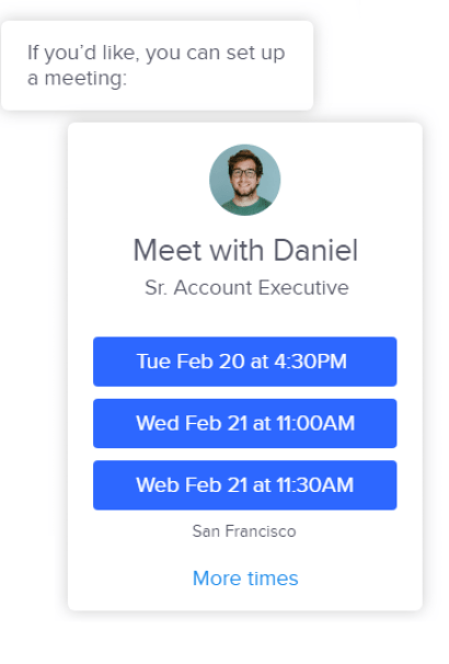 Schedule Sales meetings INTERCOM