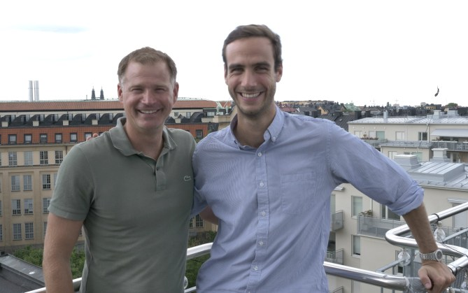 Photo caption: Mattias Malmström, CEO at Mynewsdesk (left) and Matthieu Vaxelaire, CEO and Co-Founder at Mention (right).