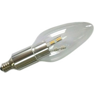 Chandelier Led Light Bulb Clear Torpedo Aluminum