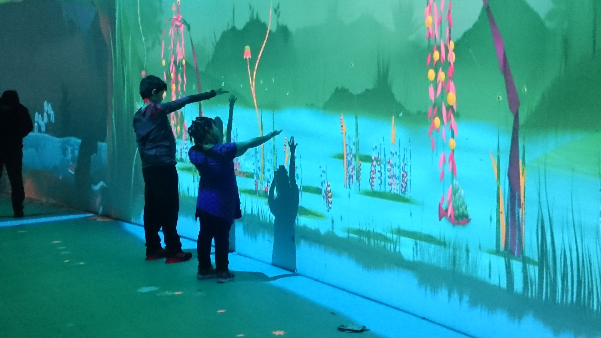 Visitors playing with Connected Worlds
