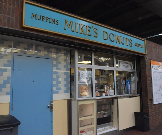 Infamous Mike's Donut shop is open for another day at Forest Hills MBTA Station.