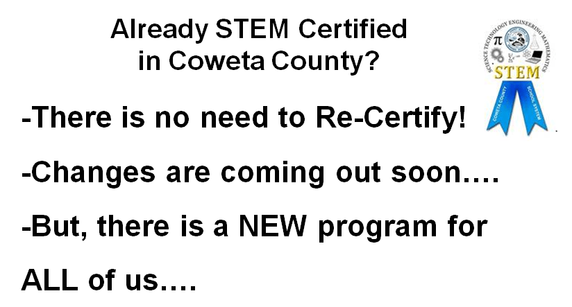 STEM Certification for Teachers: Coweta County and Georgia