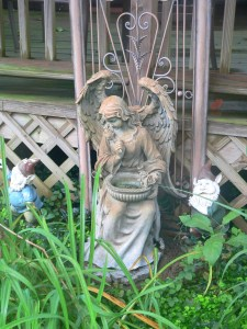 Every garden needs an angel watching.