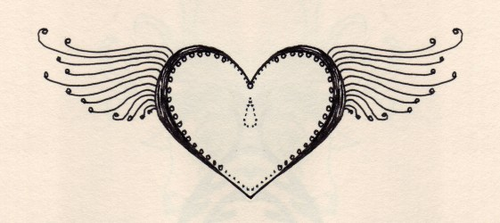 heart drawings drawing hearts flying tear line cliparts drop library clipart