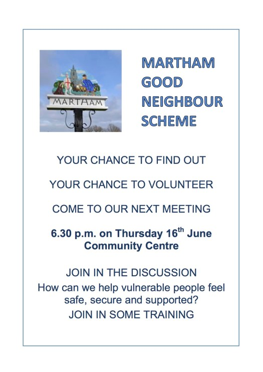 Good Neighbour Scheme Poster May 16