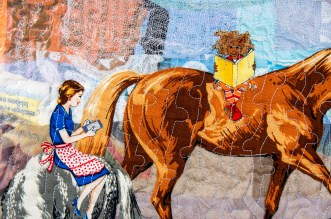 M Ressler Distracted Riding, detail