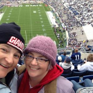 In case you're worried, we do get out sometimes.  Penn State game, 11/2/13