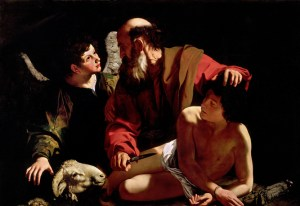 Caravaggio's Sacrifice of Isaac as collected by Vanderbilt's Divinity Library.