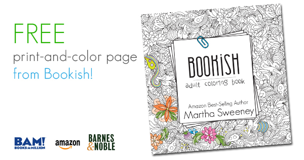 FREE Print-and-Color from Bookish: Adult Coloring Book
