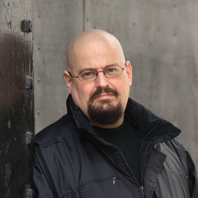 Charles Stross (Photo by John Earle, in This sci-fi author thinks Amazon will cause an apocalypse, 08.02.14, wired.com.)